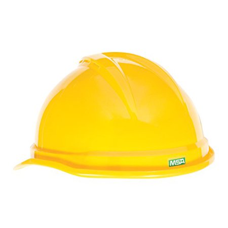 Msa 10034020 V Gard 500 Vented Style Protective Cap With Fas Trac 4 Point Ratchet Suspension  Yellow