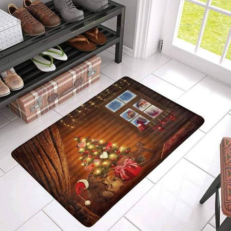 POP Room with Christmas Tree and Presents Door Mat Home Decor Indoor Entrance Doormat 30x18 Inches - image 2 of 3