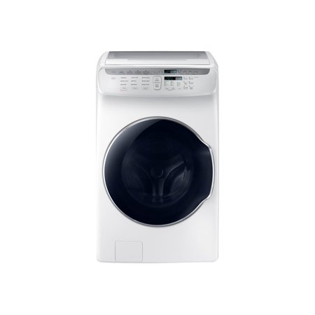 Samsung FlexWash WV55M9600AW - Washing machine - freestanding - Wi-Fi - front & top separate loading - 4.5 cu. ft + 1 cu. ft - 1300 rpm - white