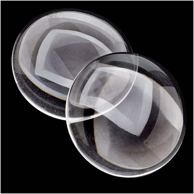Clear Glass Cabochon Round Dome Crystal Magnify 35mm (2)