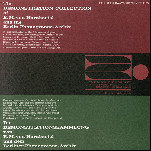 Various The Demonstration Collection of EM von Hornbostel and the Berlin Phonogramm Archiv