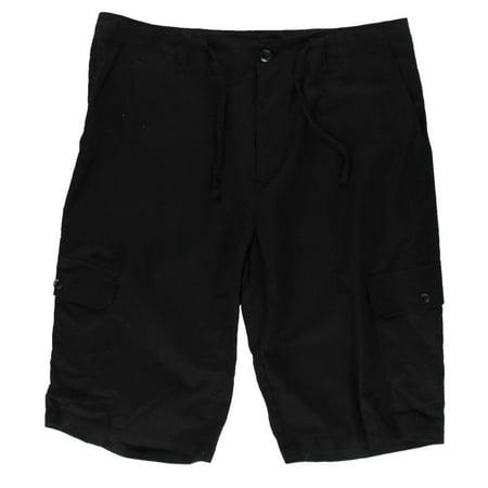 - Sean John Mens Linen Adjustable Waist Cargo Shorts