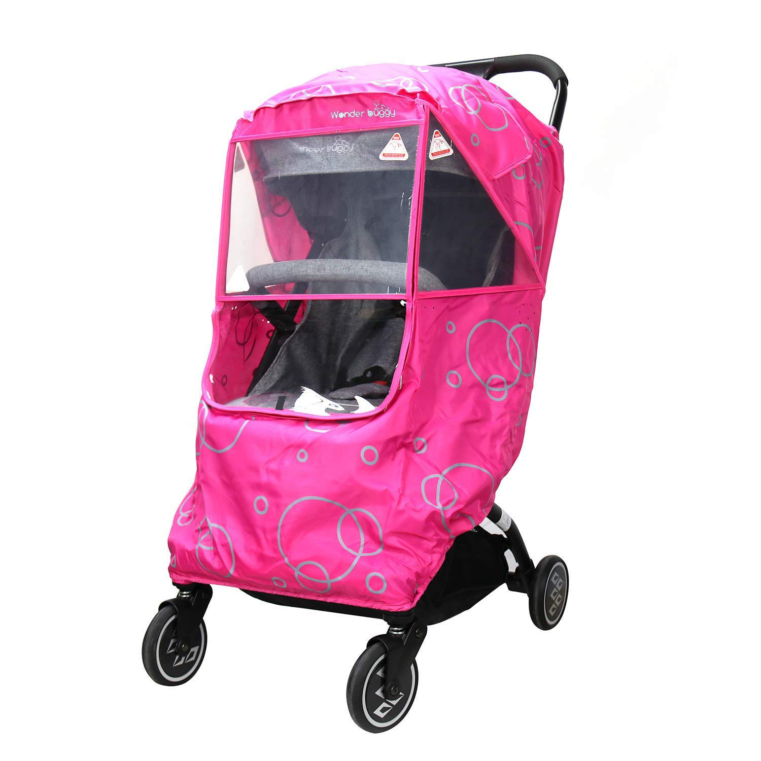 Universal Transparent Pushchair Stroller Buggy Rain Baby Protection Cover C7U6