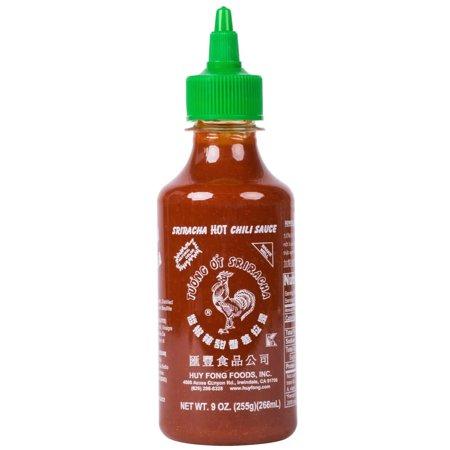 Sriracha Hot Chili Paste - 9 oz. Sriracha Hot Chili Sauce - 24/Case By TableTop King