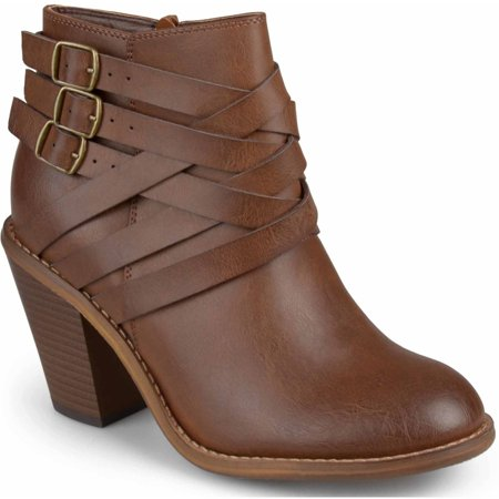 Brinley Co. Women's Ankle Multi-Strap Boots