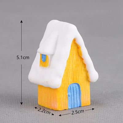KABOER Snow Scene House Christmas Snowman Decoration Candy Color Villa Creative Resin Craft Gift ()