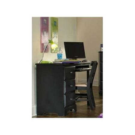Carolina Furniture Works 431300 Desk - Computer 3 Drawer - Black ()