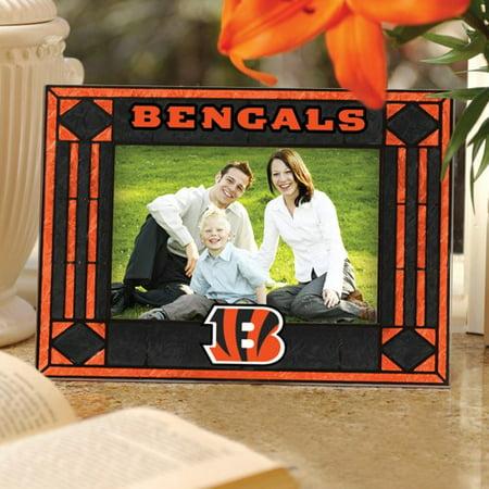 Cincinnati Bengals Black Art-Glass Horizontal Picture Frame - No Size ()