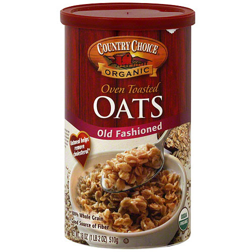 Country Choice Organic Old Fashioned Oven Toasted Oats, 18 oz (Pack of 6)