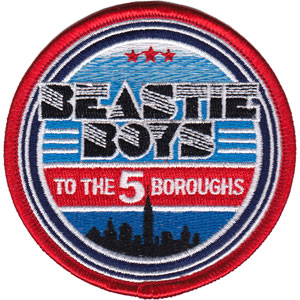 """BEASTIE BOYS 5 BOROUGHS CITY, Officially Licensed, Iron-On / Sew-On, Embroidered PATCH - 3"""" x 3"""""""