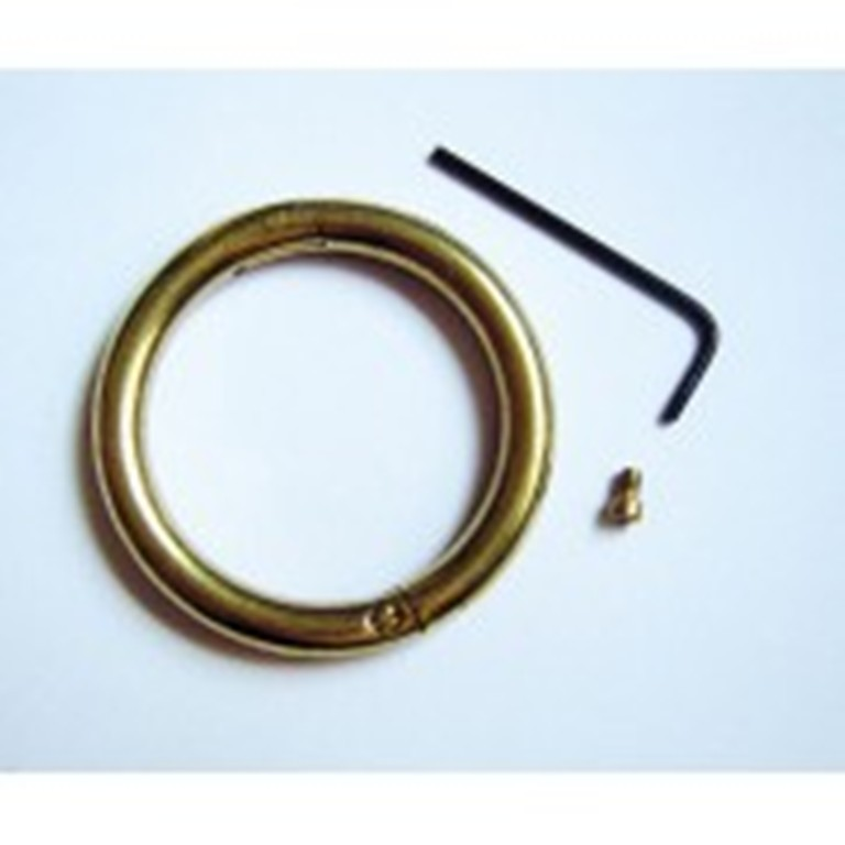 Brass Nose Bull Ring 2 1 2 X 5 16 Self Piercing Locking