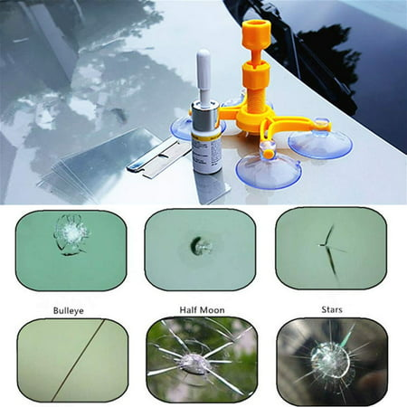 EECOO Crack Windscreen Restore,Windshield Repair Kit DIY Car Windshield Repair Tool Kit Set - Quick Fix Auto Window Glass Windscreen Scratch Chip