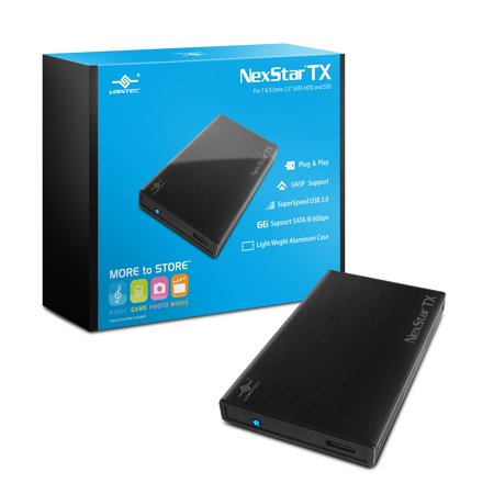 Vantec Nexstar Tx Nst-228s3-bk 2.5 Inch Sata3 To Usb 3.0 External Hard Drive Enclosure [black]