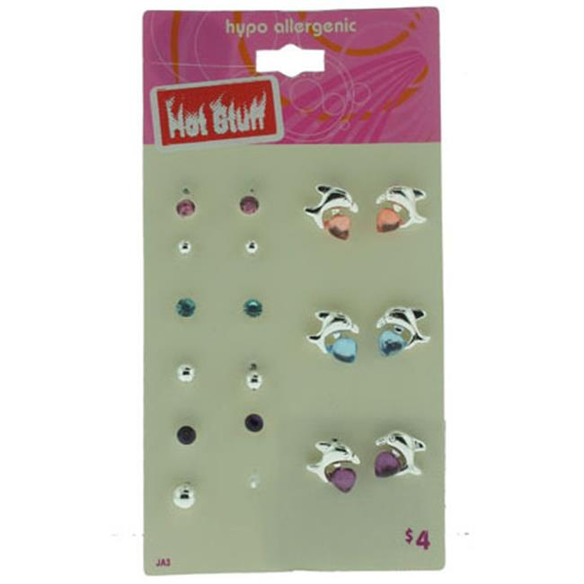 Bulk Buys Hot Stuff Department Store 9 Per Card Earring Set - Case of 120