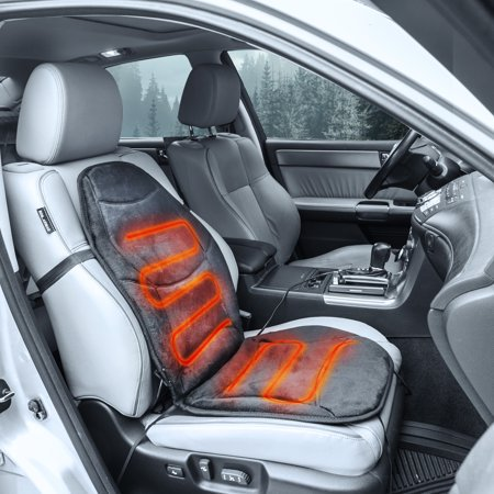 Heated Seat Cushion (Wagan 12V Auto Soft Velour Heated Seat Cushion with Lumbar Support,)