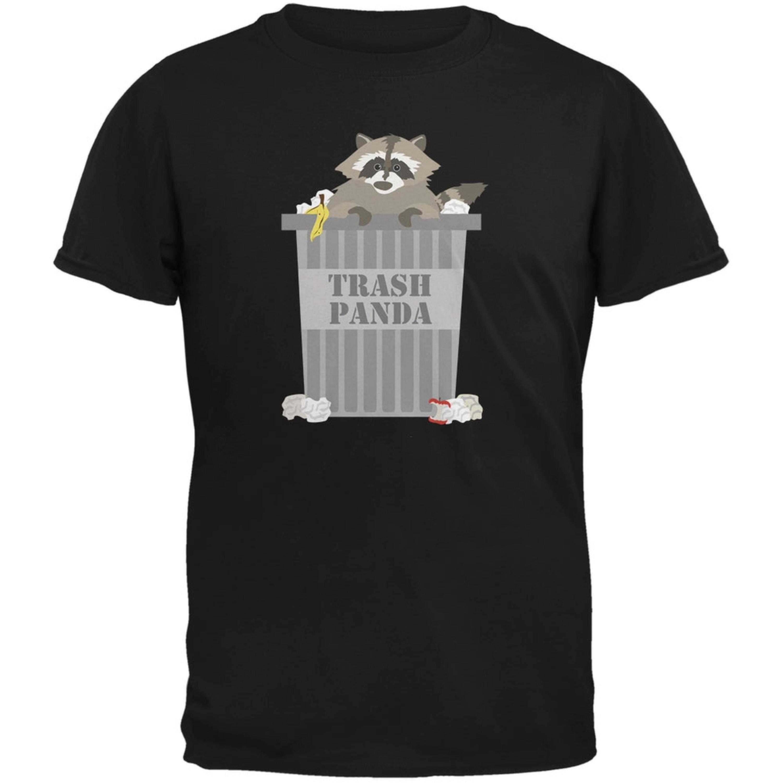 Trash Panda Raccoon Black Adult T-Shirt