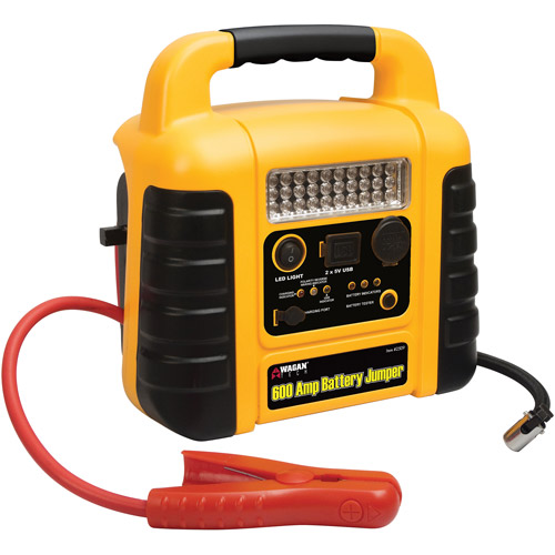Wagan 600 Amp Battery Jumper/Jumpstarter with Air Compressor and LED Worklight