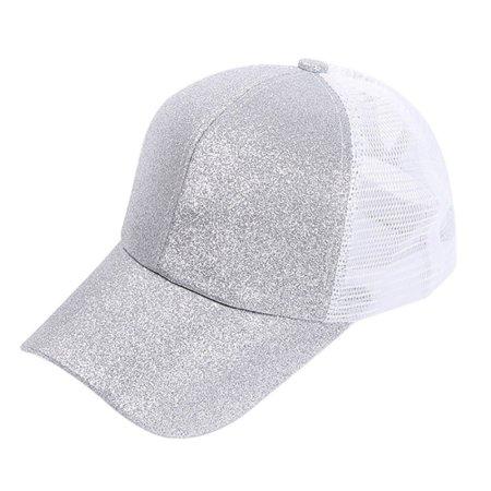 73538336292 Tommyfit - Tommyfit Women Sequins Shiny Mesh Baseball Cap - Walmart.com