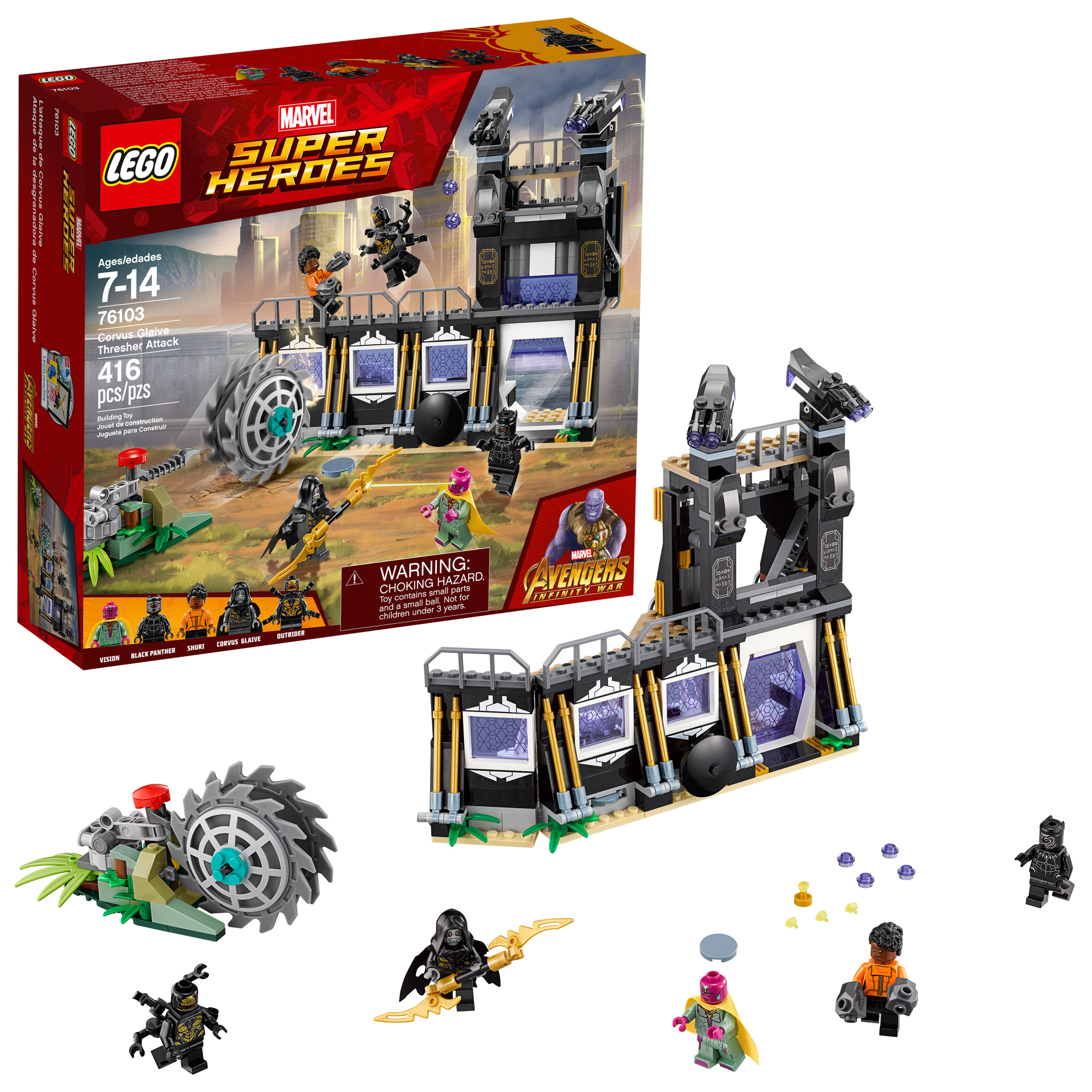 Lego Marvel Super Heroes Avengers Corvus Glaive Thresher Attack 76103 by LEGO System Inc