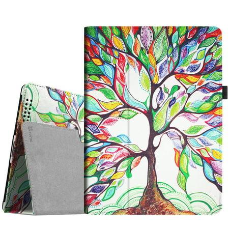 Ballistic Nylon Leather Folio - Fintie iPad 2/ iPad 3/ iPad 4 Gen Folio Case - PU Leather Cover with Auto Wake/ Sleep Feature, Love Tree