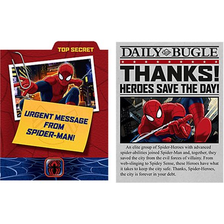 Ultimate Spider-Man Invitations and Thank You's (8ct ea.) (Movie Theater Invitations)