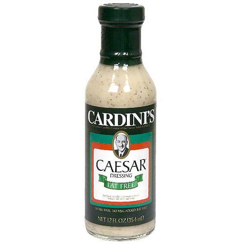 Cardini's Caesar Fat Free Dressing, 12 oz (Pack of 6)