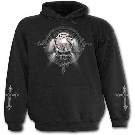 Spiral Direct CHURCH OF GOTH Fleece Hoody BlackReaper |Cross |Souls ()