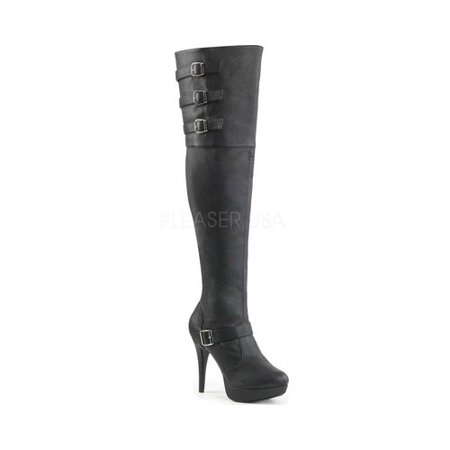 Thigh High Pleaser Boots (Women's Pleaser Pink Label Chloe 308 Thigh-High)