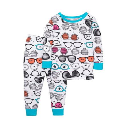 Baby Toddler Girl Snug Fit Pajamas, 2pc Set