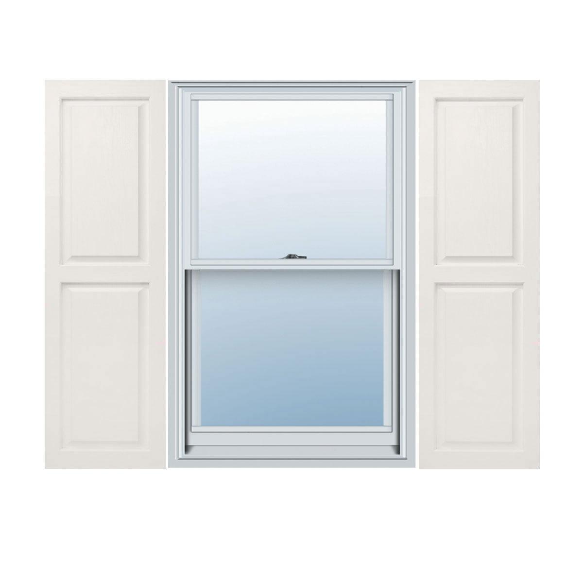 Grey 14 x 62 Builders Choice Vinyl Open Louver Window Shutters Per Pair w//Shutter Spikes /& Screws