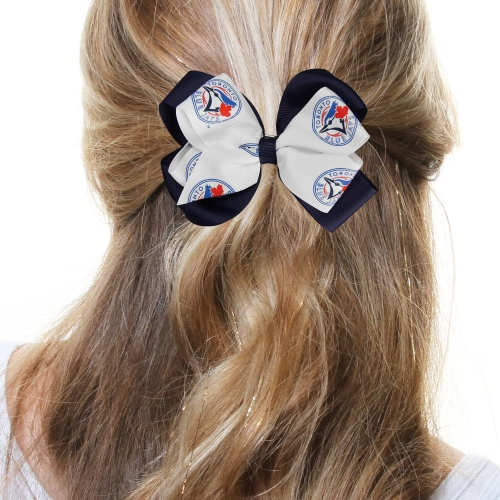 Toronto Blue Jays Women's Double Bow - No Size