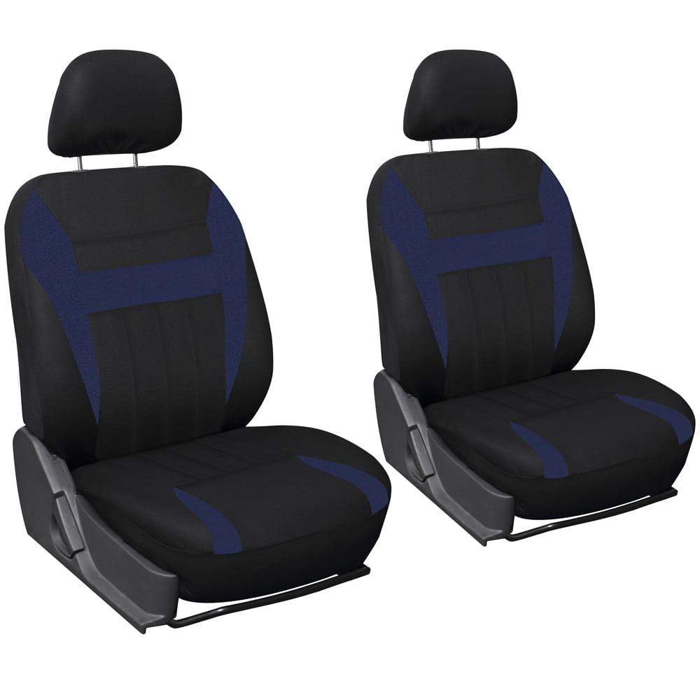 Oxgord Flat Cloth Bucket Seat Cover Set For Car Truck Van Suv