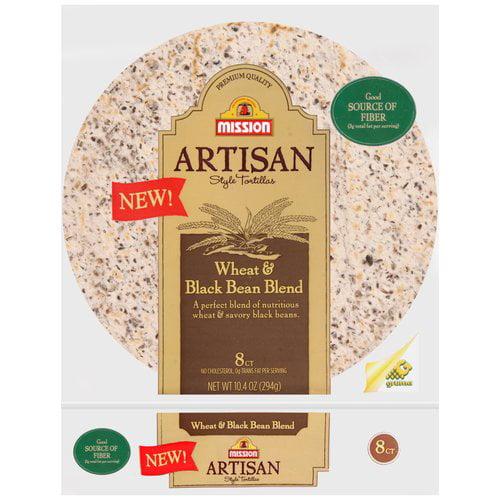 Mission Artisan Style Wheat & Black Bean Tortillas, 10.4 oz