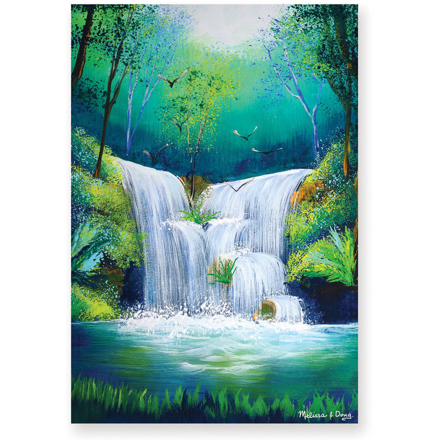 Melissa & Doug 0200pc Woodland Waterfall Cardboard Jigsaw