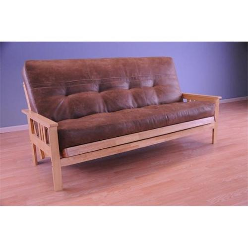 Monterey Futon Sofa in Natural Finish with Palance Silt Mattress