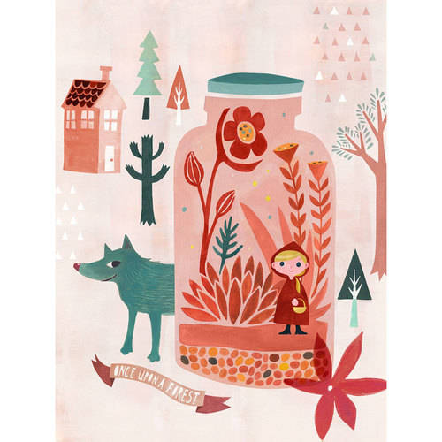 Oopsy Daisy - Once Upon A Forest Canvas Wall Art 14x18, Irene Chan