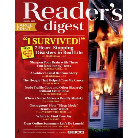 Readers Digest   Large Print Magazine Subscription  3 Years