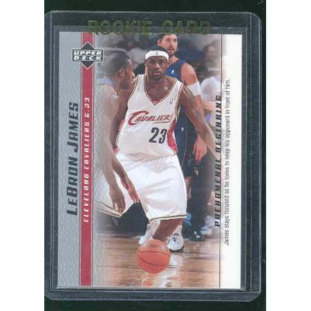 2003 Upper Deck Phenomenal Beginning #14 Focused Lebron James Rookie Card