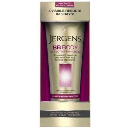 Jergens BB Body Skin Perfecting Cream, All Medium Deep Skin Tones 7.50 oz (Pack of 2)