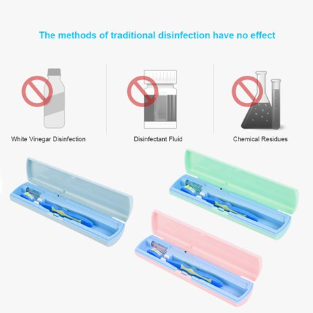 Garosa Portable Toothbrush Sterilizer, UV Toothbrush Cleaner,USB / Battery Charging Antibacteria UV Light Portable Toothbrush Sterilizer Cleaner - image 3 de 7