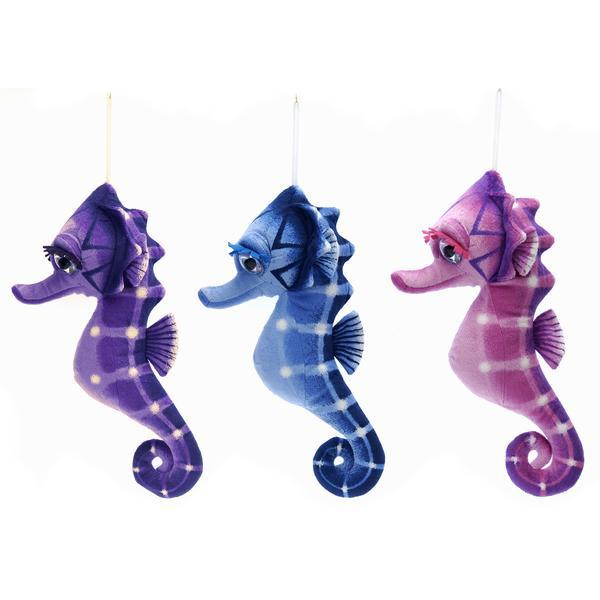"15"" 3 Assorted Color Big Eyed Seahorses - CASE OF 24"