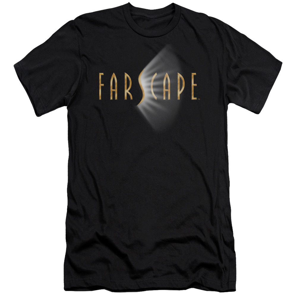 Farscape Logo Mens Slim Fit Shirt BLACK MD