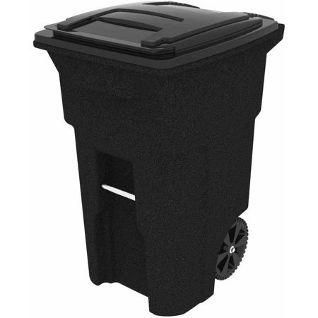 Toter 64 Gallon 2-Wheel Trash Can Cart, Blackstone (Toy Garbage Cans)