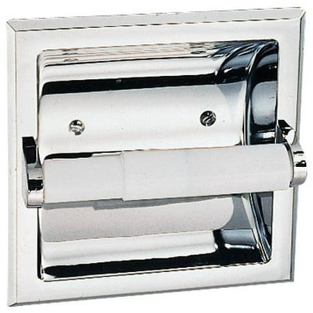 Design House 533125 Millbridge Recessed Toilet Paper Holder, Polished Chrome