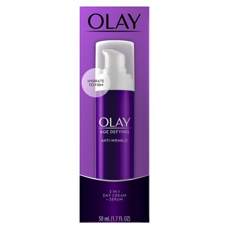 (Olay Age Defying Anti-Wrinkle 2-in-1 Day Cream Plus Face Serum, 1.7 oz)