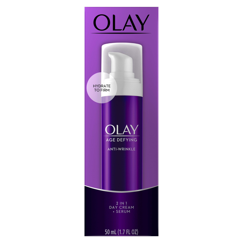 Olay Age Defying Anti-Wrinkle 2-in-1 Day Cream Plus Face Serum, 1.7 oz