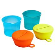 Boon SNUG SNACK Universal Snack Lid Set - Orange & Yellow