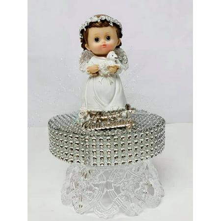 Mi Bautizo-Baptism Angel Girl With Sheep Cake Topper Centerpiece Decoration 6.5
