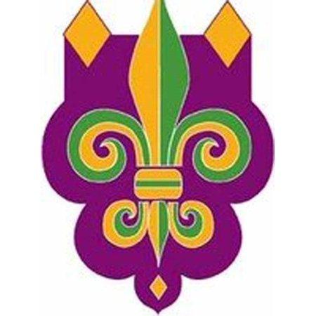 Mardi Gras Fleur de Lis Applique House Flag