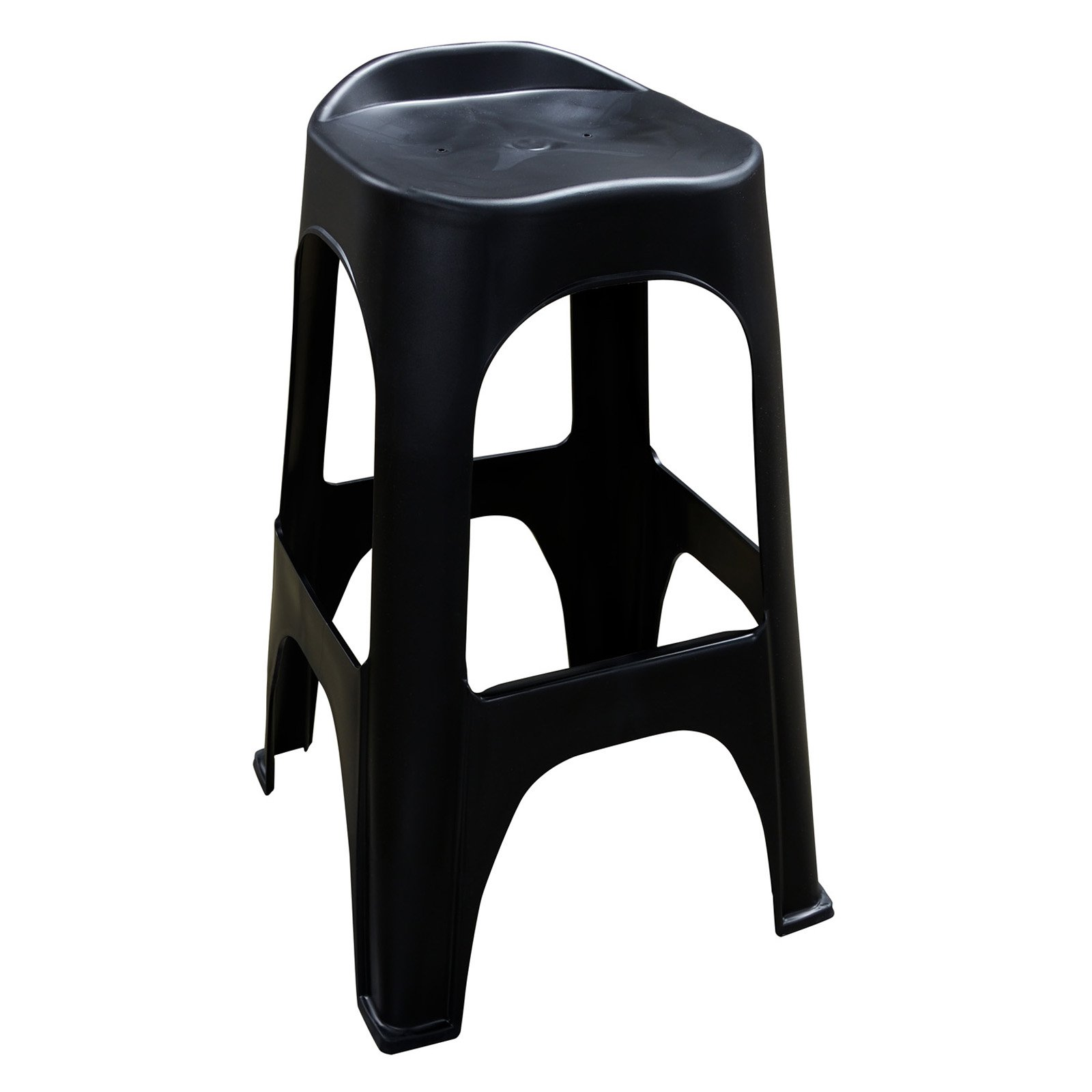 Image of Adams Manufacturing RealComfort Barstool, Black